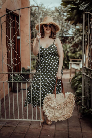 Cami Dress | Khaki Spots