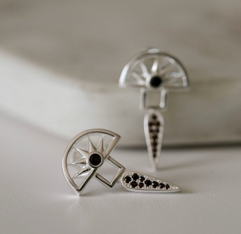 Horizon Earrings | Sterling Silver |
