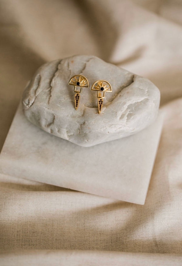 Horizon Earrings | 18K Gold Plated |