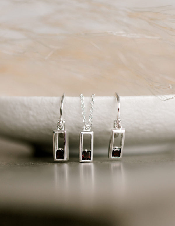 Realm Earrings | Sterling Silver |