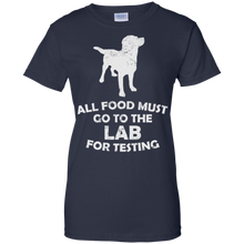 Women's All Food Must Go To The Lab For Testing Fitted T-Shirt