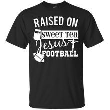 Unisex Raised On Sweet Tea Jesus And Football Relaxed T-Shirt