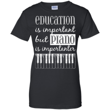 Women's Education Is Important But Piano Is Importanter Fitted T-Shirt