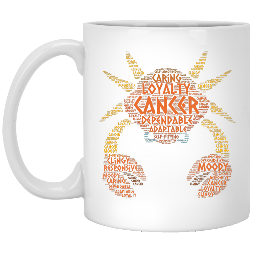 Zodiac Cancer Horoscope Birth Sign Word Cloud Coffee Mug