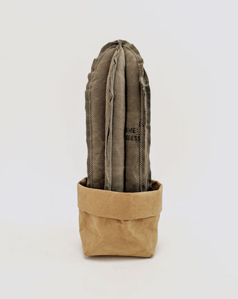 Reworked Column Cactus ( made from vintage Japanese Military duffle bag )