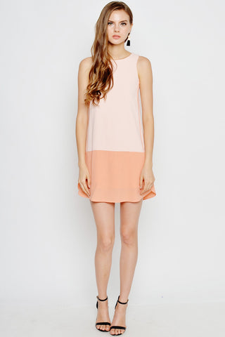 Love and bravery Rosaria Duotone Dress peach