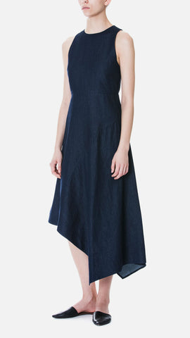 Beyond The Vines Asummetrical Chambray Dress