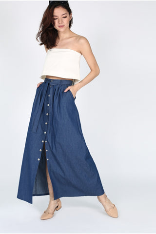 Love Bonito Madelon Denim Maxi Skirt XS