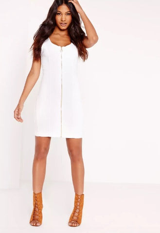 Missguided Fitted denim dress