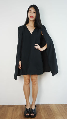 C/MEO Collective Black dress with attached coat