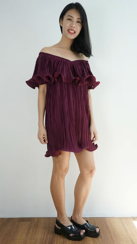 Innit Bangkok Signature 3 way dress in red wine