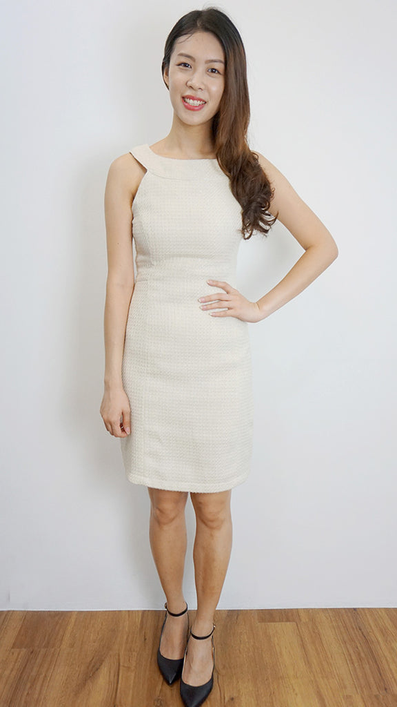 Tweed pencil dress