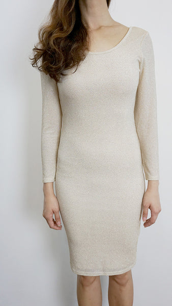 Miss Selfridge Glitter bodycon dress nude
