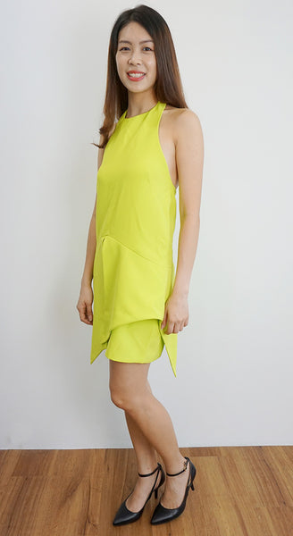 Finders Keeper neon dress with back detailing