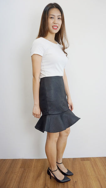 Black pleather skirt