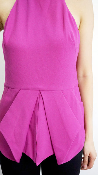 Finders Keepers Fuchsia bare back top