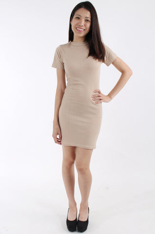 Daisy Street nude body-con dress