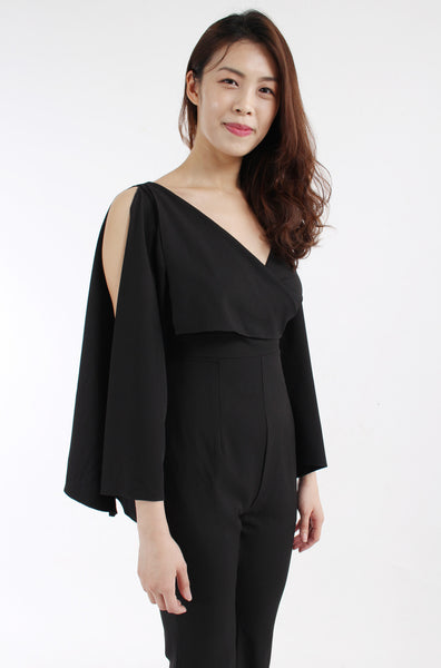 Black jumpsuit with detailing