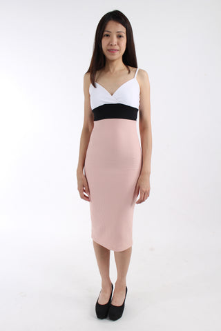 Miss Selfridge tri-tone pencil dress BNWT