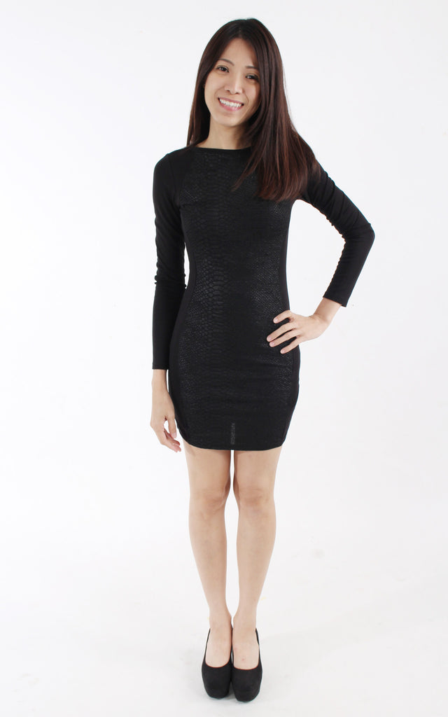 Divided by H&M Black textured Mini Dress