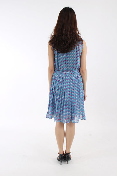 Vintage-inspired pleated dress
