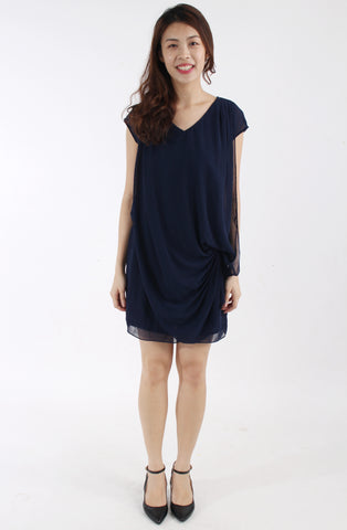 Le Bleu Navy chiffon dress