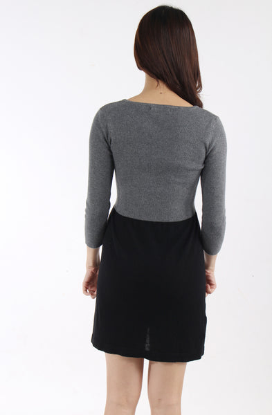 Mango two-tone knit dress