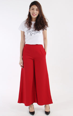 VainGloriousYou Tailored Flare pants in Red