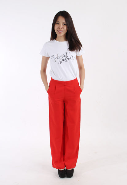 Red Tailored Pants