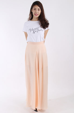 Akira Chicago Black label Maxi skirt in peach