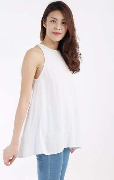 Topshop white blouse with back opening