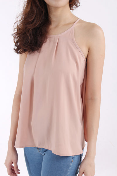 Cut in Blush blouse