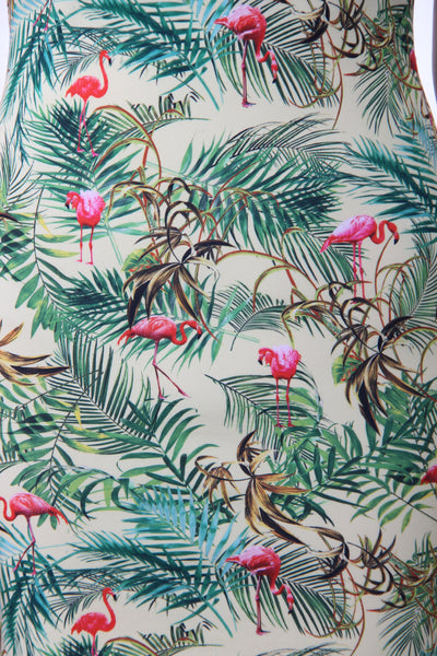 Bershka Flamingo print with back cut out