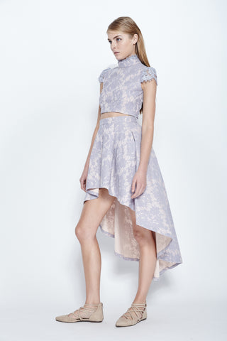Vaingloriousyou Adelaide Lace Embossed Skirt in Lavender