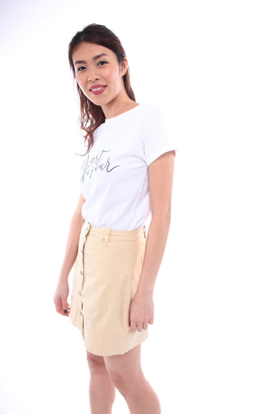 The Closet Lover Pallo Skirt in Light Khakis