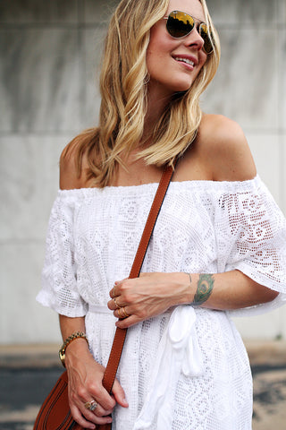 Banana Republic Lace off-shoulder top/ dress