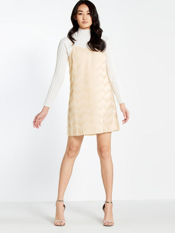 Pomelo Faustine slip dress in cream