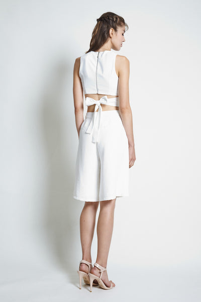 Vaingloriousyou Amity Textured Culottes in White