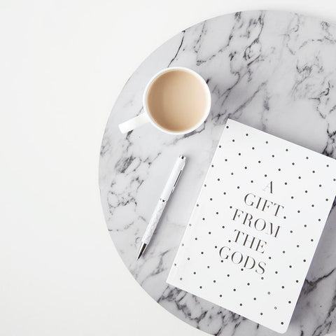 A GIFT FROM THE GODS POLKA DOT WHITE A5 NOTEBOOK