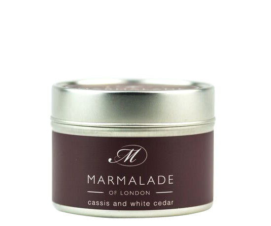 MARMALADE TIN CANDLE CASSIS AND WHITE CEDAR