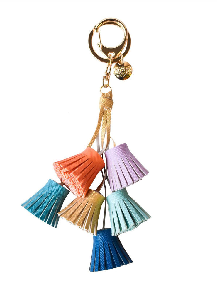 A GIFT FROM THE GODS DREAM ODYSSEY AQUA TASSELS KEYRING
