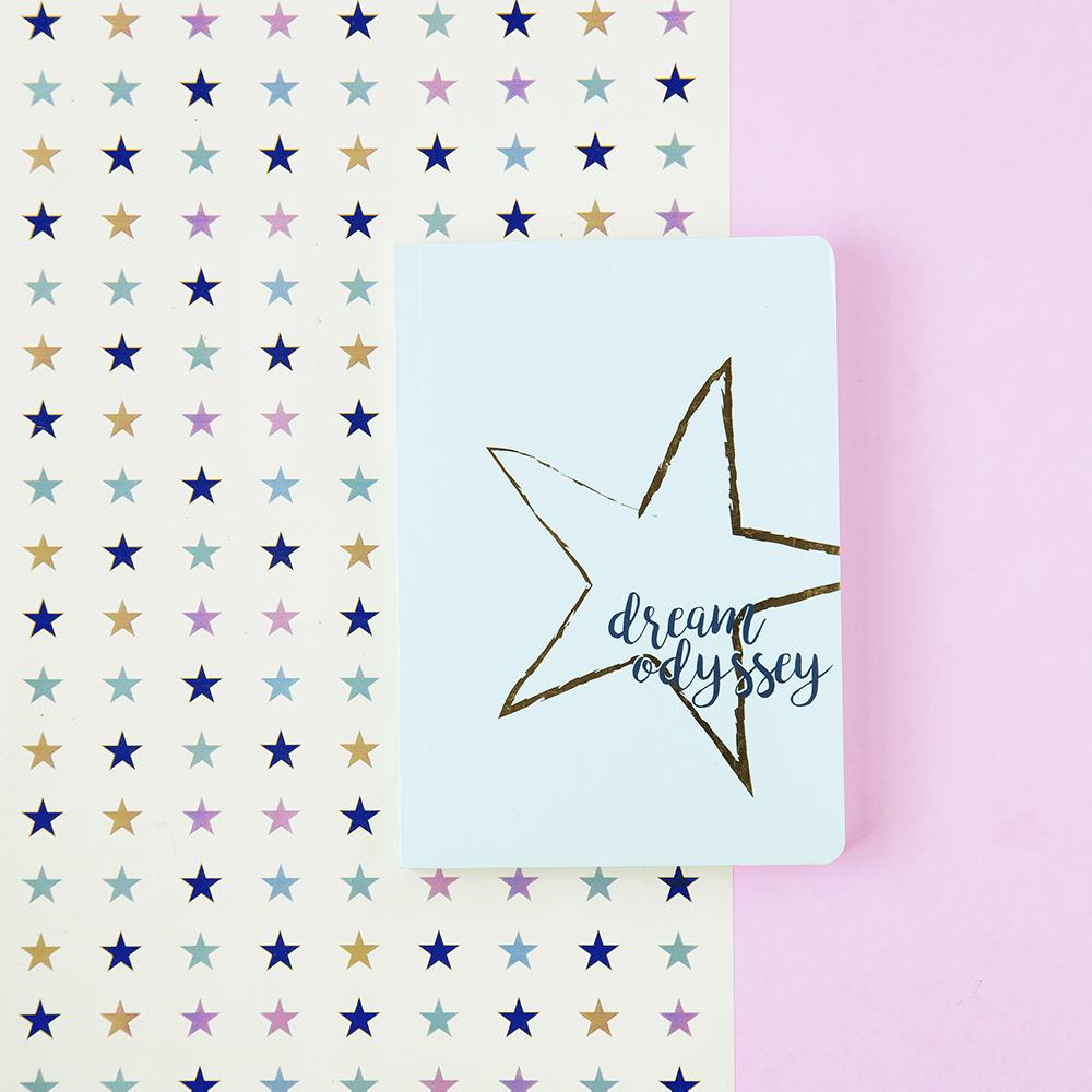 A GIFT FROM THE GODS DREAM ODYSSEY STAR AQUA A6 NOTEBOOK