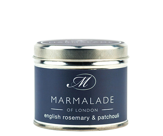 MARMALADE TIN CANDLE ENGLISH ROSEMARY AND PATCHOULI