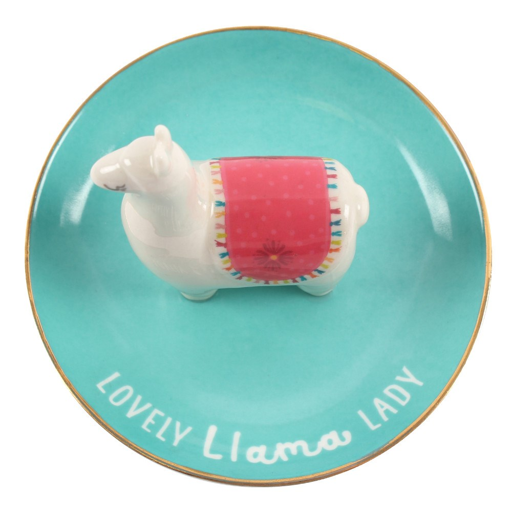 LOVELY LLAMA LADY JEWELLERY DISH