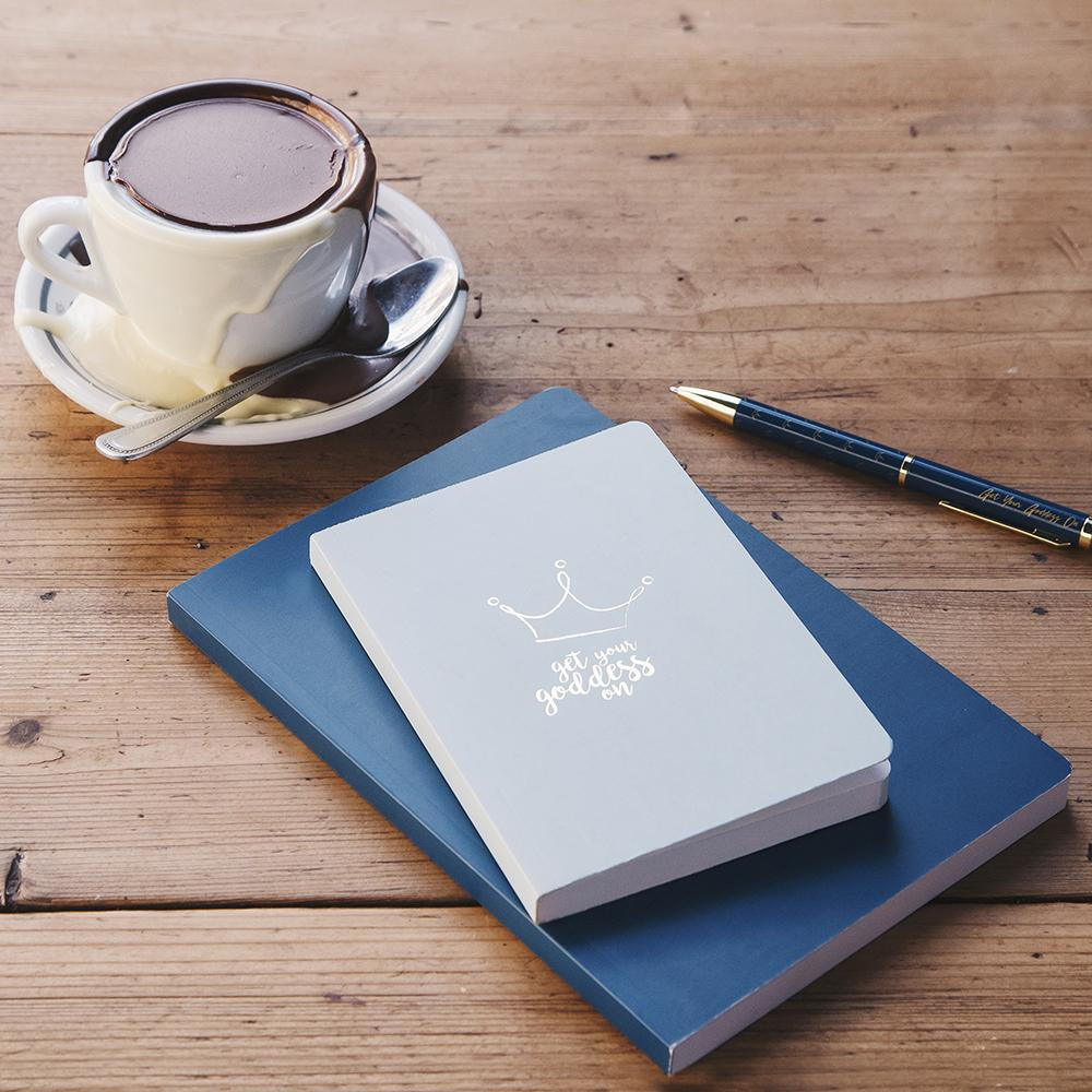 A GIFT FROM THE GODS GET YOUR GODDESS ON CROWN GREY A6 NOTEBOOK