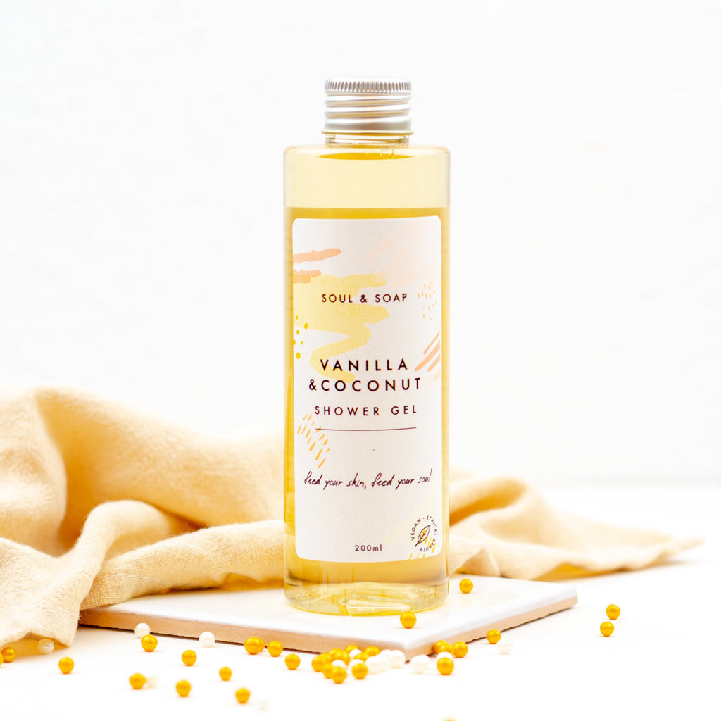 VANILLA AND COCONUT SHOWER GEL BY SOAP AND SOUL