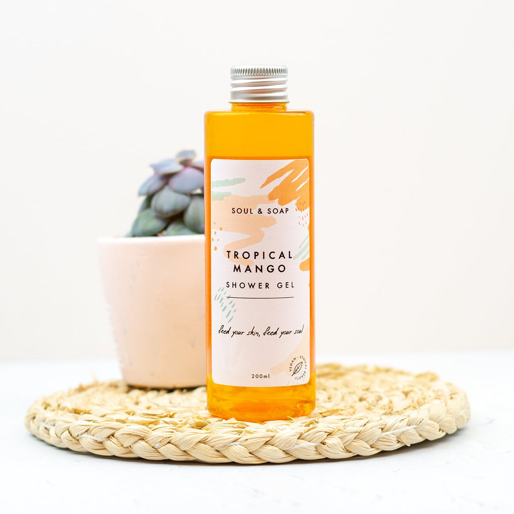TROPICAL MANGO SHOWER GEL BY SOAP AND SOUL