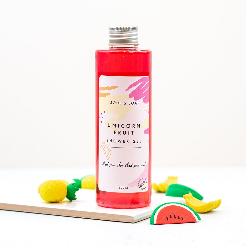 UNICORN FRUIT SHOWER GEL BY SOAP AND SOUL