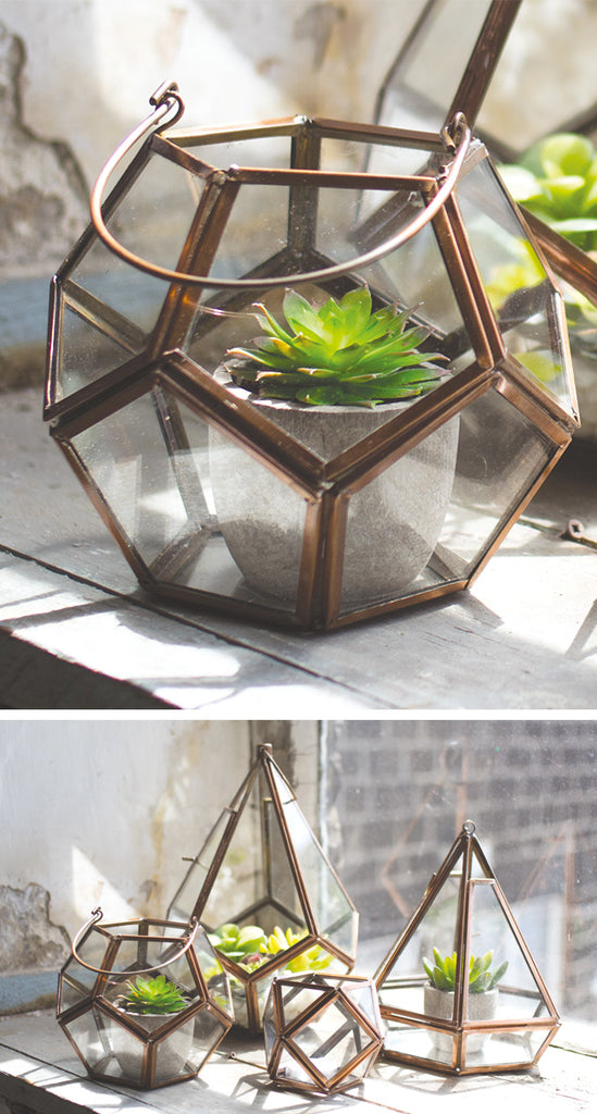 COPPER FINISH TEALIGHT HOLDER