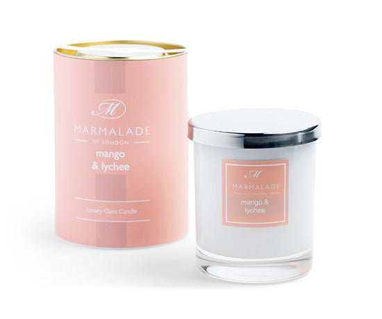 MARMALADE GLASS CANDLE MANGO AND LYCHEE